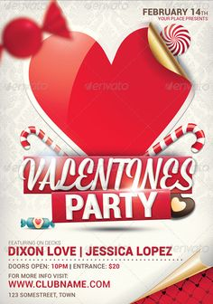 Valentines Day Flyer Templates with peppermint theme  http://www.thedesignwall.com/20-best-valentines-day-flyer-templates/