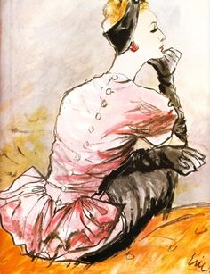 Fashion pictures or video of Fashion illustrations by Carl 'Eric' Erickson; in the fashion photography channel 'Photo Shoots'. Fashion Illustration Vintage, Illustration Mode, Fashion Illustrations, Madame Gres, Fashion Art, Vintage Fashion, Classic Fashion, Fashion Prints, Timeless Fashion