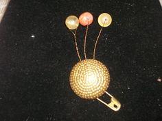 Sprouts or Sprinkles Brooch | HiddenHummingbirdDesigns - Jewelry on ArtFire