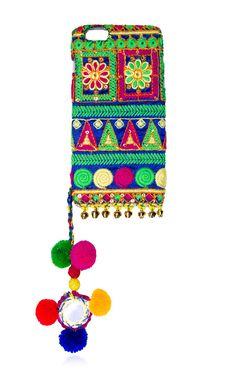 iphone 6 plus embroidered case  by KOCHAII Now Available on Moda Operandi