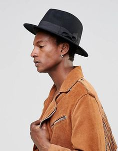 5e8d3f4394b03 DESIGN fedora hat in black felt. ASOS