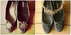 My old-new shoes - shoe refashioning from http://pimprelys.over-blog.com