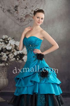 Ball Gown Wedding Dresses Sweetheart Floor Length Satin Multi-Colored 010010200252