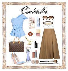 A fashion look from October 2017 featuring one shoulder tops, brown skirt and leather shoes. Browse and shop related looks. Brown Skirts, One Shoulder Tops, Mode Style, Maybelline, Casetify, Mac Cosmetics, Christian Dior, Cinderella, Louis Vuitton
