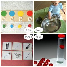 Montessori Inspired Toddler Activities -great ideas and links to heaps of blogs | Racheous