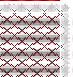 Hand Weaving Draft: Page 46, Figure 13, Donat, Franz Large Book of Textile Patterns, 6S, 6T - Handweaving.net Hand Weaving and Draft Archive