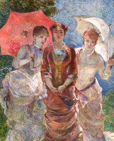 Marie Bracquemond - Trois femmes aux ombrelles