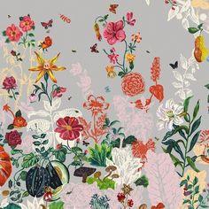 Bloemen Behang | Nathalie Lété via storewithoutahome pinned with Bazaart pinned with Bazaart