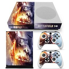 Xbox One S Console Skin Decal Sticker Battlefield 1  2 Controller Skins Set * Visit the image link more details. Note:It is affiliate link to Amazon.