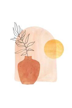 Plant Painting, Plant Art, Plant Drawing, Art Minimaliste, Abstract Line Art, Diy Canvas Art, Aesthetic Art, Art Projects, Art Drawings