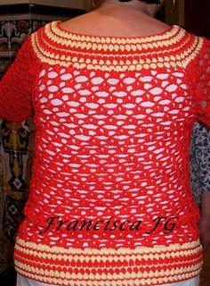 suéter de algodón naranja