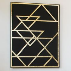 Gold Leaf Art Deco 3D Hand Crafted Art Work