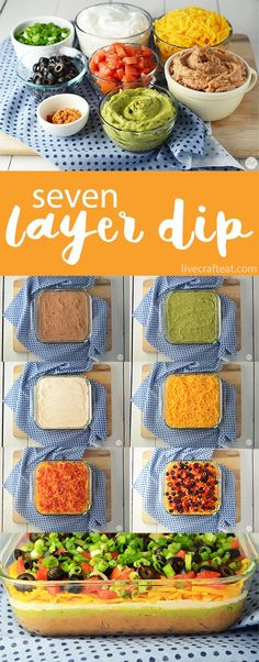 easy 7-layer chip dip - great for parties and get-togethers! | www.livecrafteat.com