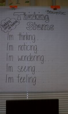 Metacognition: Thinking stems