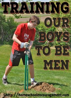 Training Our Boys to Be Men