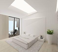 Camera da letto minimalista di Архдуэт