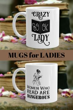 Women who read are dangerous. Crazy Book Lady. #bookwormforher #ladygifts