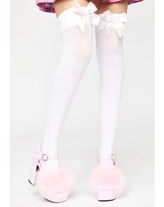 Free, fast shipping on Midnight City Thigh High Socks at Dolls Kill, an online boutique for punk rock fashion. Shop Current Mood grunge clothing, lace up leggings, & platform shoes here. Thigh High Tights, Thigh Highs, Pink Outfits, Grunge Outfits, Lace Up Leggings, Pink Doll, Punk Rock Fashion, Kawaii Fashion, Girl Costumes