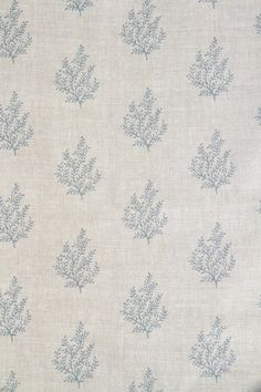 Fabric width: Pattern repeat: Height: x Width: Half Step in Height Base cloth: Stone Linen Suitability: Light upholstery & soft furnishings, curtains and blinds, rub test Care: Dry clean only Printed to order in England. Please allow working days. Curtain Material, Curtain Fabric, Fabric Decor, Linen Curtains, Curtains With Blinds, Linen Fabric, French Country Living Room, Linens And Lace, Fabric Wallpaper