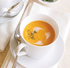 WINTER VEGETABLE SOUP WITH COCONUT MILK AND PEAR   http://www.finecooking.com/recipes/winter-vegetable-soup-coconut-milk-pear.aspx
