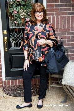 over50feeling40 What I wear to the airport http://www.over50feeling40.com #fashionoverfifty #TheFrumpBusters