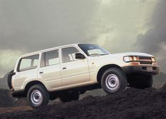 The Only Car In The World Is The Toyota Land Cruiser FJ80
