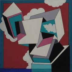 São Mamede - Art Gallery  Carlos Calvet Forma em Batalha Gouache x Paper 21 cm x 21 cm