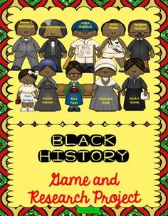 Table of Contents* Black History Game {color version}, Pp. 4-7* Black History Game {B/W version}, Pp. 8-10* Research Project, Pp. 11-13If you like this product, you may be also interested in the following materials about other great African Americans:BLAC