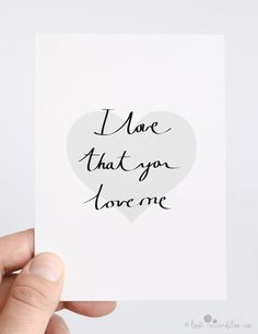Cute Valentine's Card  Anniversary Card  I Love That You Love Me by Lost Marbles Co