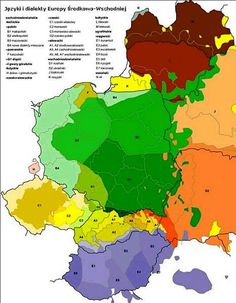 Map of Polish Language and Dialects  |²  ☛ ۞   90° https://de.pinterest.com/bejina/pol-maps-and-charts/