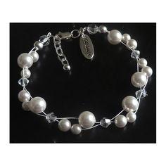 Collier Perlen mit Swarovski Elements