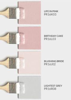 House Goals Trendy Bedroom Colors Pink Grey Bathroom Ideas What Parents Should Kn Living Room Decor Colors, Bedroom Paint Colors, Living Room Paint, Pastel Bedroom, Living Rooms, Wall Colors, Pink Paint Colors, Bathroom Color Schemes, Bathroom Colors