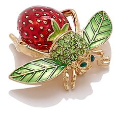 Joan Rivers Strawberry Bee Pin - want this...