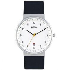 Braun - Mens Black Strap White Dial Quartz Watch - BN0032WHBKG  RRP: £120.00 Online price: £90.00 You Save: £30.00 (25%)  www.lingraywatches.co.uk