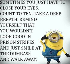50 Hilariously Funny Minion Quotes With Attitude funny quotes quote jokes attitude lol funny quote funny quotes funny sayings hilarious minion minions sarcastic minion quotes adult jokes Funny Minion Pictures, Funny Minion Memes, Minions Quotes, Minions Pics, Minion Humor, Minion Videos, Minion Love Quotes, Minions Images, Evil Minions