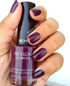 Revlon Colorstay Longwear Nail Enamel Bold Sangria Swatch