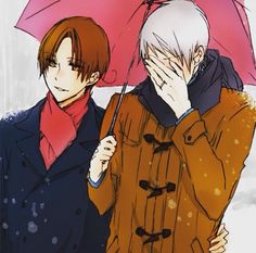 Awww, look at Gil's ring (/ω\) ( #Pruita, #ItalyxPrussia )