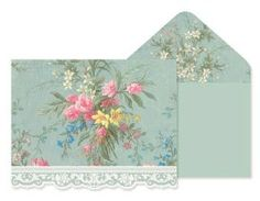 Carol Wilson Stationery Grey Floral Jewel Box Note Cards