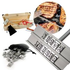 """Schluss mit Diebstahl vom Grill! Dank des Brandeisens kannst du nun unmissverständlich klarmachen: """"Dieses Steak gehört mir!"""" via www.monsterzeug.de"""