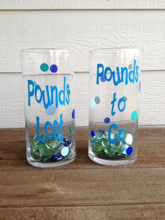 Fitness Weight Loss Jars WITH beads included - Reach your goals!