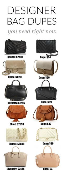 20+ designer bag dupes you NEED in your closet! Fashion blogger Mash Elle shares a complete designer bag dupe guide! Affordable designer bag dupes for Chloe, Gucci, Goyard, Gucci, Prada, Chanel, Clare V, Saint Laurent, Valentino, Fendi, Burberry, Givenchy and Mulberry!