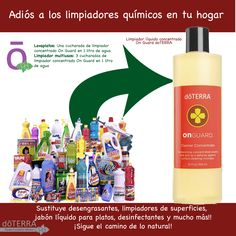 #OnGuard #limpiador_concentrado Dí adiós a todos los productos químicos de tu hogar Sigue el camino de lo natural!