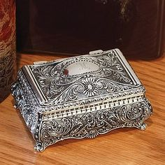 Silver Ornate Jewelry Box