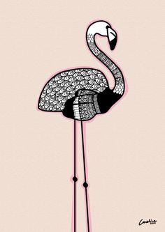 wonderful zentangle design inspiration on this Flamingo by Caroline: Oh this makes me happy! Flamingo Illustration, Illustration Artists, Sparrow Art, Flamingo Art, Pink Bird, Doodles Zentangles, Animal Sketches, Bird Art, Artist Art