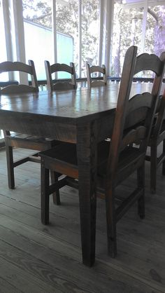 Dining Table Made From Old Reclaimed Wood By Landrum Tables