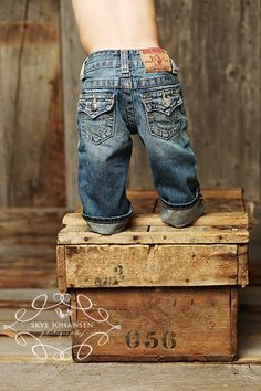 True religion for my munchkin - these tend to grow on you.  loved these for my boy!