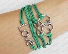 Love  bracelet  infinity karma bracelet  mens by lifesunshine, $7.99