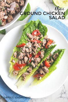 thai ground chicken salad (larb gai)