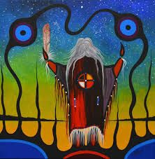 """Oh Great Spirit, whose voice I hear in the winds And whose breath gives life to everyone, Hear me. I come to you as one of your many children; I am weak am small need your wisdom and your strength.""...   ~ Ojibwa Prayer Artist: Frank Polson   <3 lis"