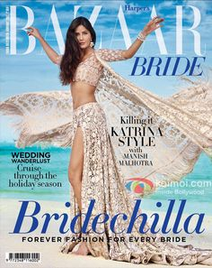 Katrina Kaif has graced the cover of Haper's Bazaar Bride for the December issue and she looks absolutely stunning. Dressed as a contemporary bride in Manish Malhotra's exclusive outfit. Kat looks gorgeous in a golden embellished outfit. Pictures from her magazine shoot have already gone viral. She shot for the maagzine's photoshoot in Maldives and
